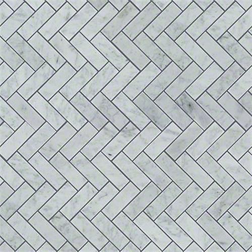 Chateau Herringbone Mosaic Bianco Carrara 00150