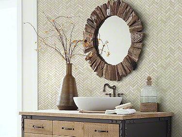 Chateau Herringbone Mosaic Crema Marfil 00200