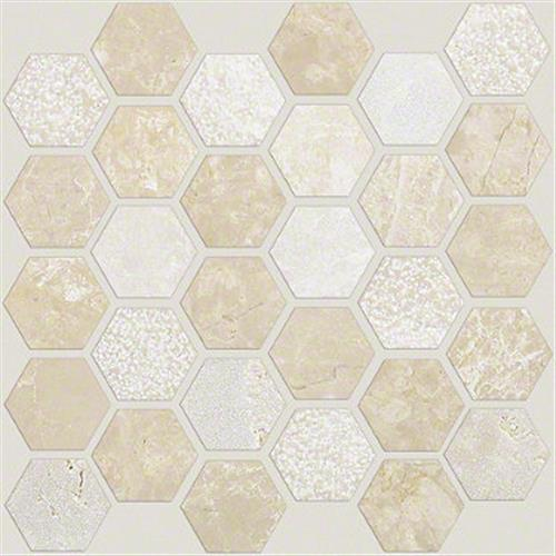 Boca Hexagon Textured Mosaic Coastal 00210