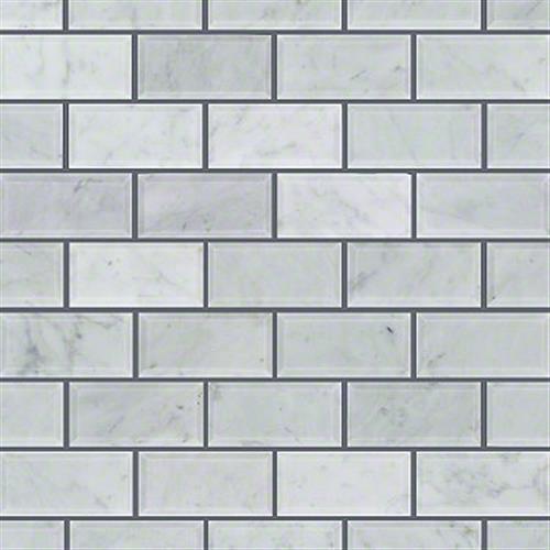 Chateau 2X4 Beveled Edge Mosai Bianco Carrara 00150