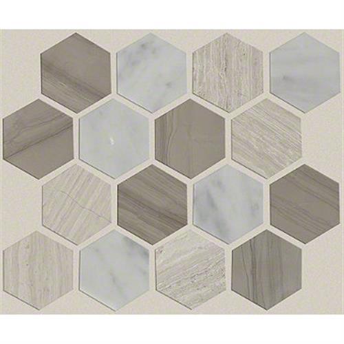 Chateau Hexagon Mosaic Bianco C Rockw Urba 00125
