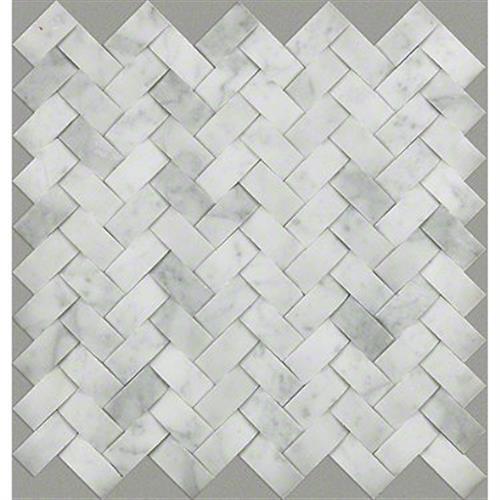 CHATEAU WOVEN MOSAIC Bianco Carrara 00150