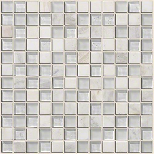 Mixed Up 1X1 Mosaic Stone Snow Peak 00100