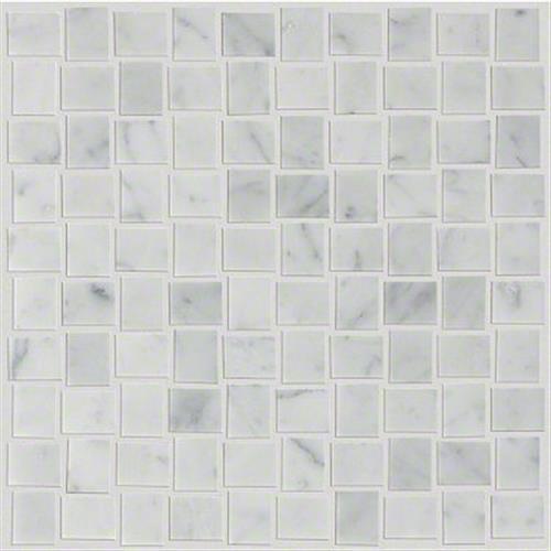 PEARL BASKETWEAVE MOSAIC Bianco Carrara 00150