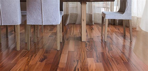 Smooth Flooring - Engineered Tigerwood  3/8 X 3 1/4
