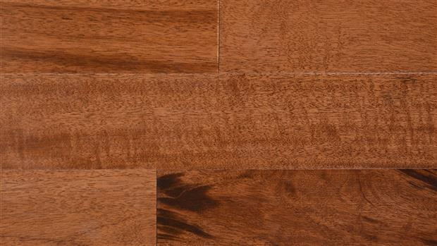Smooth Flooring - Engineered Golden Tigerwood  3/8 X 3 1/4