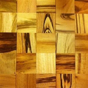 Hardwood Mosaics IPCMSQTW34 BrazilianTigerwoodSquares534