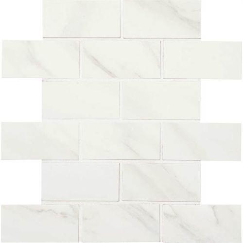 Bianco Carrara 2 X 4 Mosaic