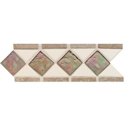 Designer Elegance™ in Gloss Almond/smoky Topaz/mocha 4and X 11and Accent - Tile by American Olean