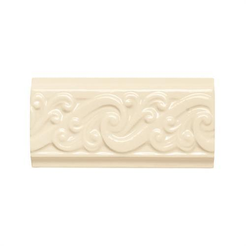 CeramicPorcelainTile Designer Elegance™ Biscuit 3and X 6and Curl Accent 0091 main image