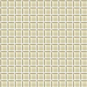 GlassTile ColorAppeal C10411MS1P CloudCream1x1Mosaic