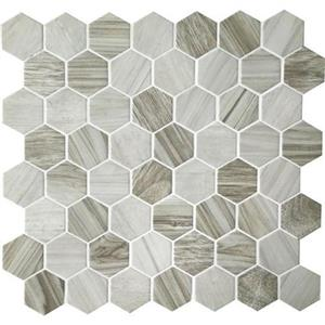 GlassTile Crosswood CR9515HEXSWATCH Seagull