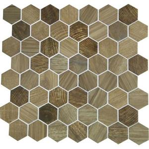 GlassTile Crosswood CR9715HEXSWATCH Sandpiper