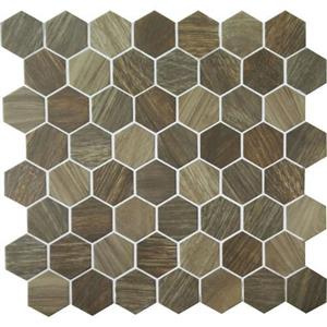 GlassTile Crosswood CR9815HEXSWATCH Heron