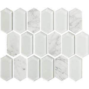 GlassTile Alair AL1424HEXSWATCH Cotton