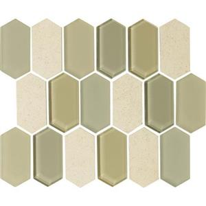 GlassTile Alair AL1524HEXSWATCH Honey