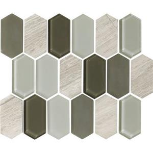GlassTile Alair AL1624HEXSWATCH Dove