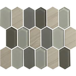 GlassTile Alair AL1724HEXSWATCH Slate
