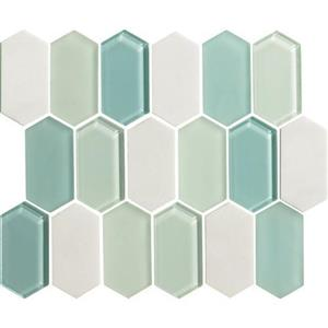 GlassTile Alair AL1924HEXSWATCH Mint