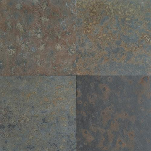 Slate And Sandstone Collection Brazil Multicolor 16 X 16 And 12 X 12 Natural Cleft Gauged S275