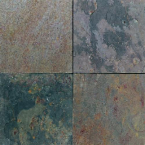 Slate And Sandstone Collection Indian Multicolor 12 X 24 16 X 16 And 12 X 12 Natural Cleft Gauged 12 X 12 Honed S771