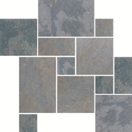 Slate And Sandstone Collection Indian Multicolor 16 X 24 16 X 16 8 X 16 And 8 X 8 Versailles Pattern Natural Cleft Gauged S771