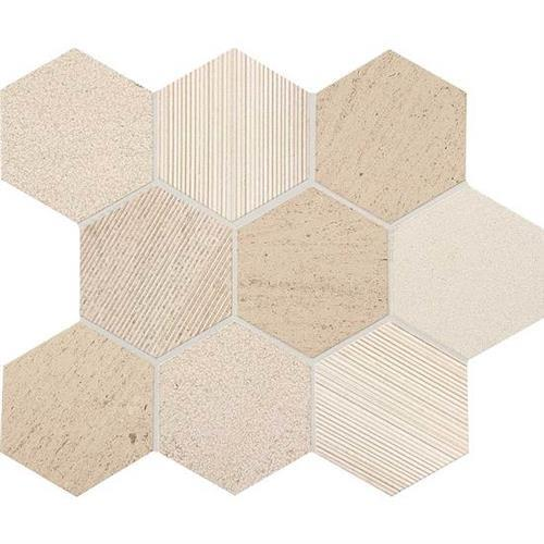 Ascend Honest Greige Hexagon Mosaic L101