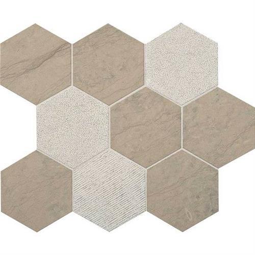 Ascend Gray Virtue Hexagon Mosaic L102