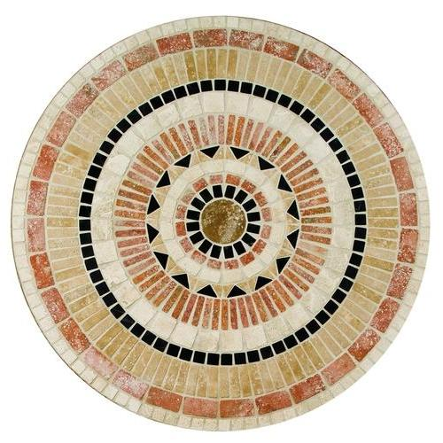 Medallion Collection Star Burst 36 In Diameter Tumbled TSM1