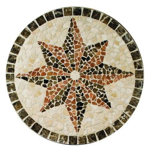 Medallion Collection Northern Star 32 In Diameter Tumbled TSM4