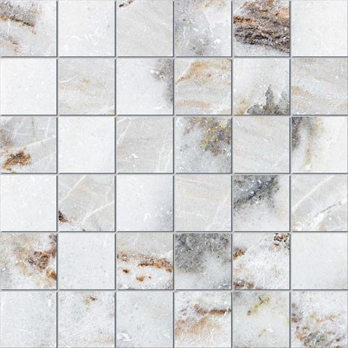 Montana White - 13X13 Mosaic 4175