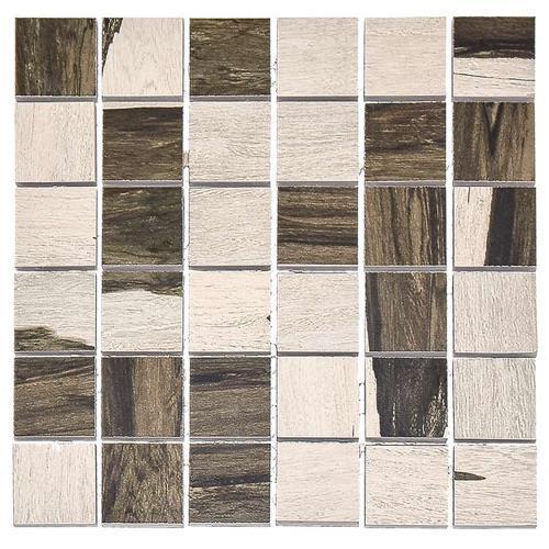 Over Black  White - 12X12 Mosaic 4670M