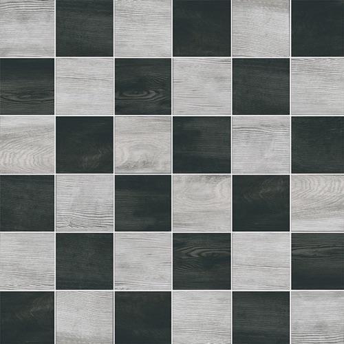 Eleganza Grigio Nero Mix - 12X12 Mosaic 2818U