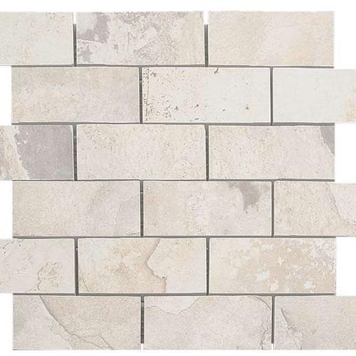 Natural Slate Winter - 12X12 Brick Mosaic 4485