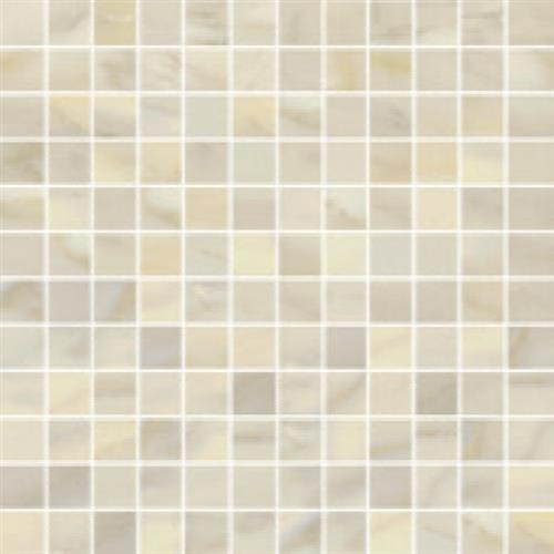 Bardiglio in Crema Polished   Mosaic - Tile by Happy Floors