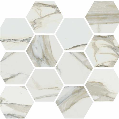 Stratus Oro Natural - Hexagon Mosaic