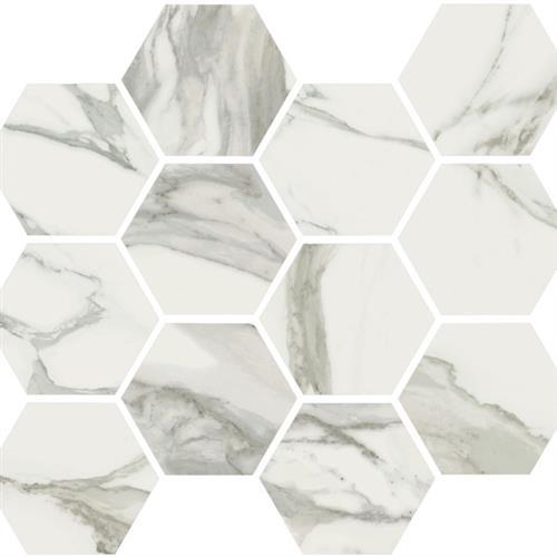 Stratus Grigio Polished - Hexagon Mosaic