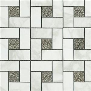 CeramicPorcelainTile Calacatta 5672-G PinwheelDecoMosaicSemi-Polished