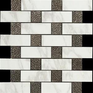 CeramicPorcelainTile Calacatta 5673-G BrickDecoMosaicSemi-Polished