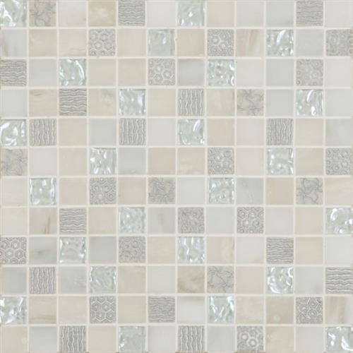 Swatch for White   Mosaic Deco flooring product