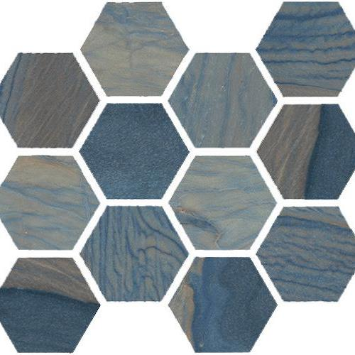 Macaubas Azul Natural Hexagon