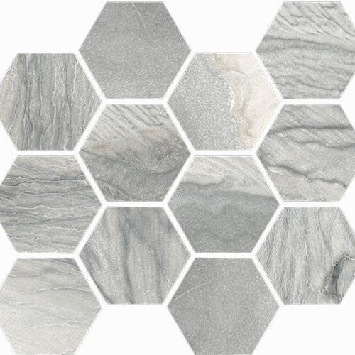 Macaubas Oyster Polished Hexagon