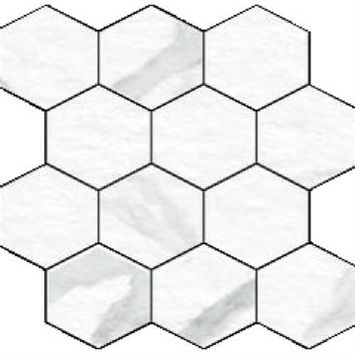 Blast in Statuario  Hexagon - Tile by Happy Floors
