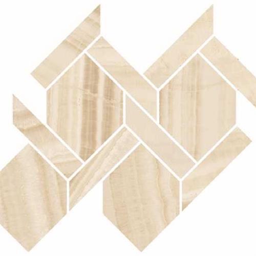 Onyx Honey Natural - Rope Mosaic