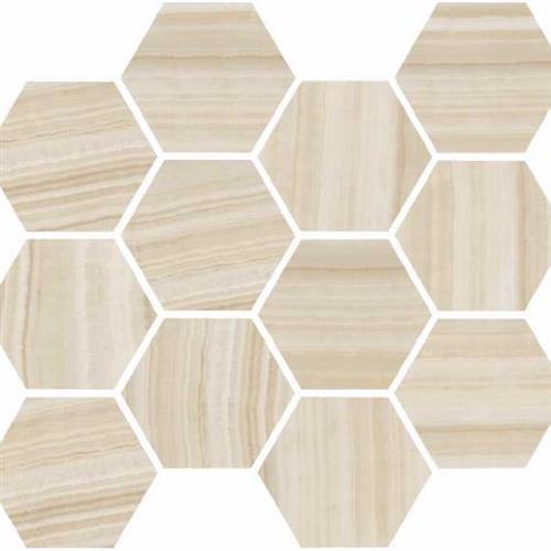Onyx Honey Polished - Hexagon