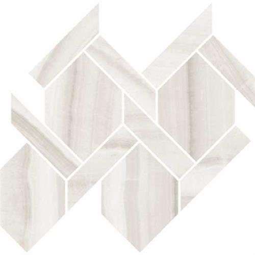 Onyx in Milk Polished   Rope Mosaic - Tile by Happy Floors