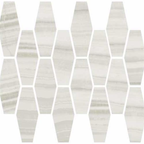 Onyx in Milk Polished   Elongated Hexagon - Tile by Happy Floors