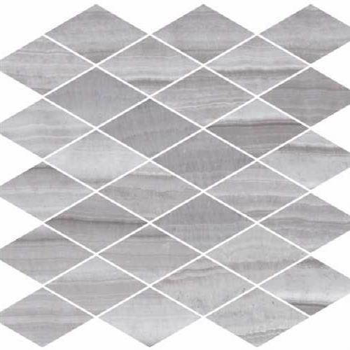 Onyx Silver Natural - Rhomboid Mosaic