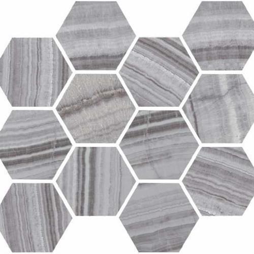 Onyx Silver Polished - Hexagon