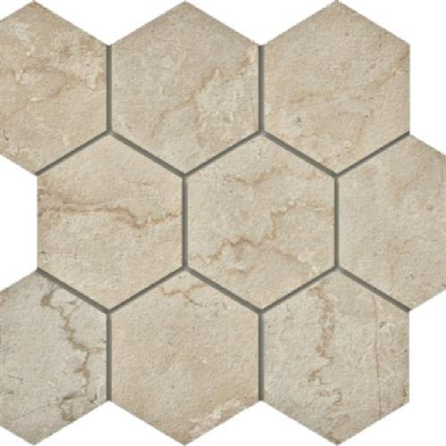 Swatch for Botticino   Hexagon flooring product